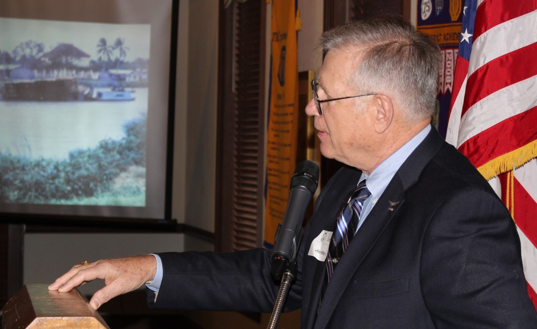 Vietnam Veteran Jim Miller addresses crowd–January 26th, 2016