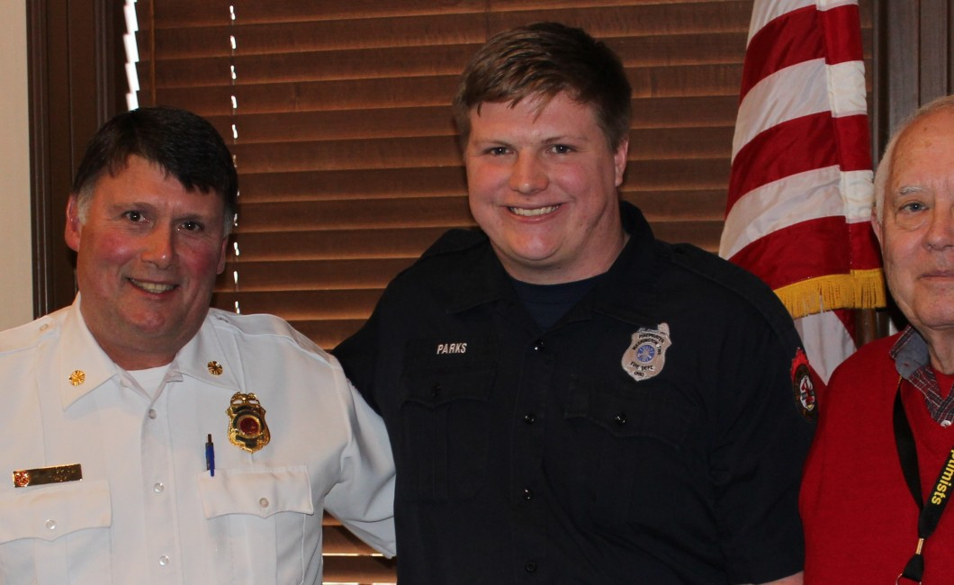 Local Firefighter honored — Feb 16th, 2016