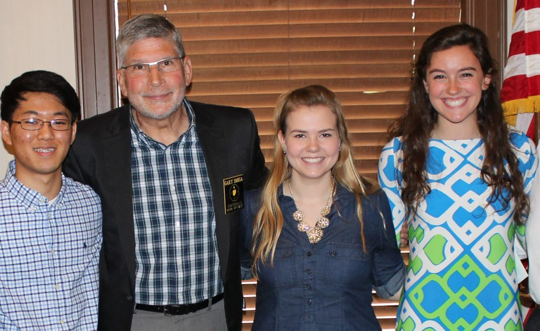 Local students awarded Centerville Noon Optimist memorial scholarships — May 17th, 2016
