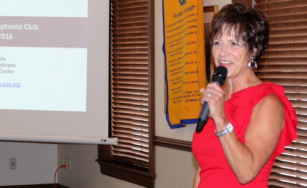 Leslie Moore shares the story of Wright Patterson USO –Aug 9th, 2016