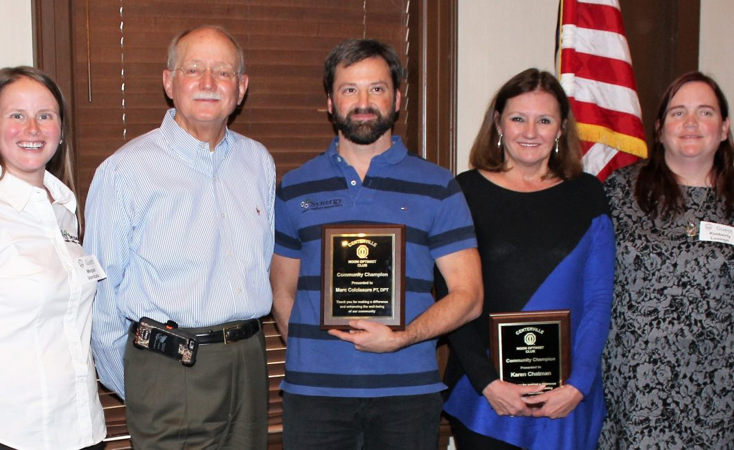Noon Meeting News – December 6, 2016 – Community Champion Awards Presented
