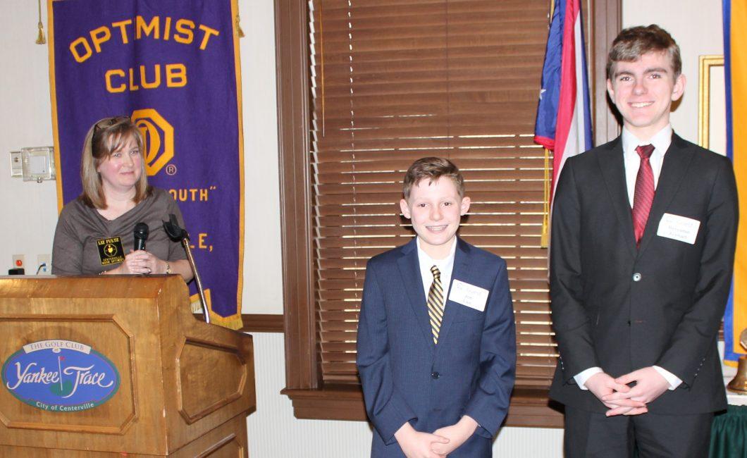 Noon Meeting News – February 7, 2017 – Boys Oratorical