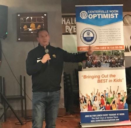 Optimist 2.0 Meeting News – January 18, 2018 – Brent Ullery – CHS Football Coach
