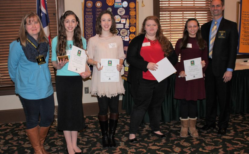 Noon Meeting News – February 13, 2018 – Girls Oratorical Contest
