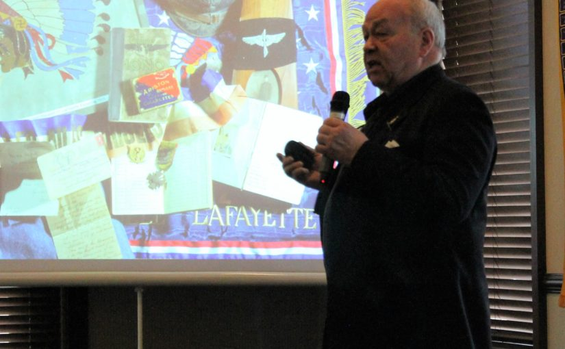 Noon Meeting News – March 27, 2018 – Dan Patterson – Lafayette Escadrille Film Project