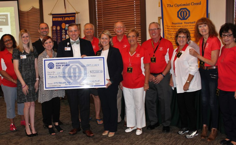 CNOtes – September 11, 2018 – Presentation of Checks to Dayton Children's from Tom Frazier Tee Off for Youth Golf Outing