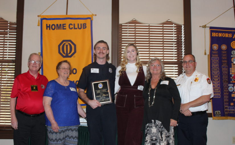 CNOtes – October 29, 2019 – Robert J. O'Toole Firefighter/EMT Award Presented to Joseph Andrews